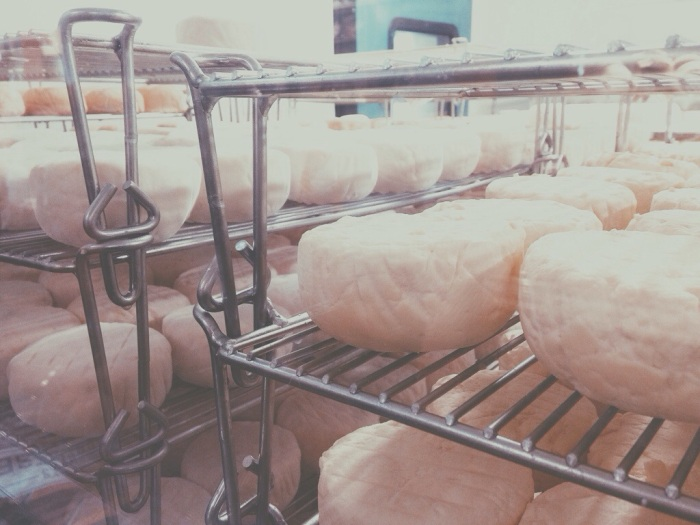 cheese in process!