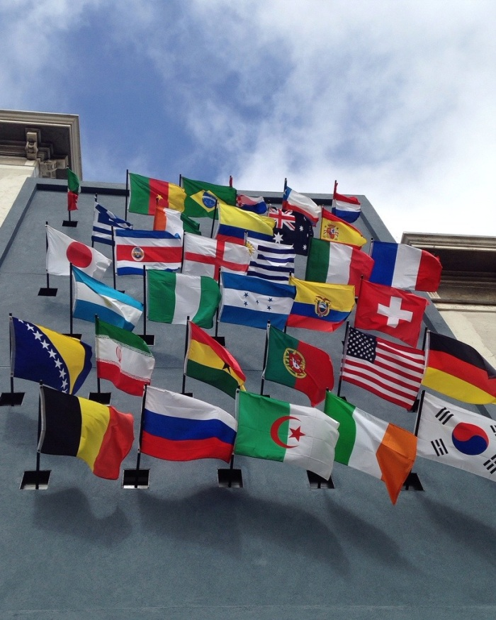 World Cup salute in Hayes Valley