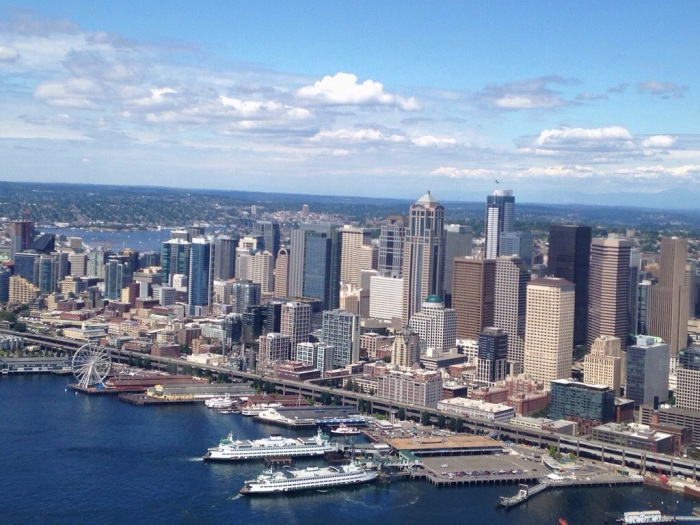 my city, taken on the flight back from Lopez Island in the San Juans