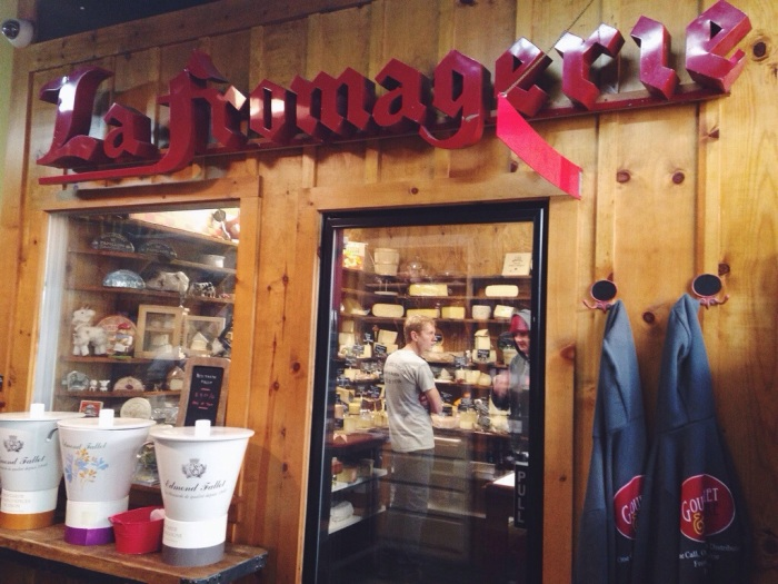 the Fromagerie, or cheese room in the back of the shop with your own personal cheesemonger