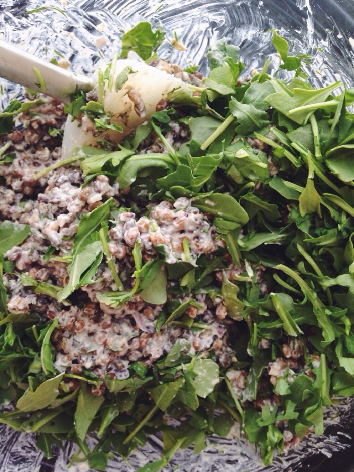 Add in a few cups of arugula for a complete salad