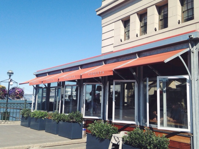 Coqueta has the perfect location looking out over the Bay Bridge