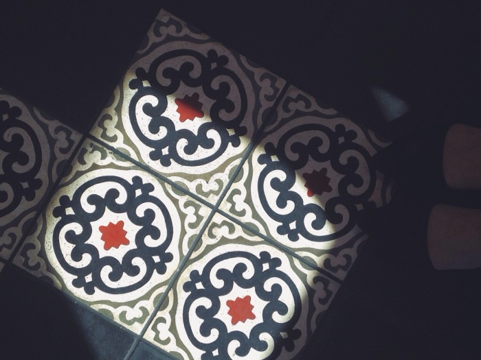 I was losing my mind over all the beautiful design, look at these tiles!