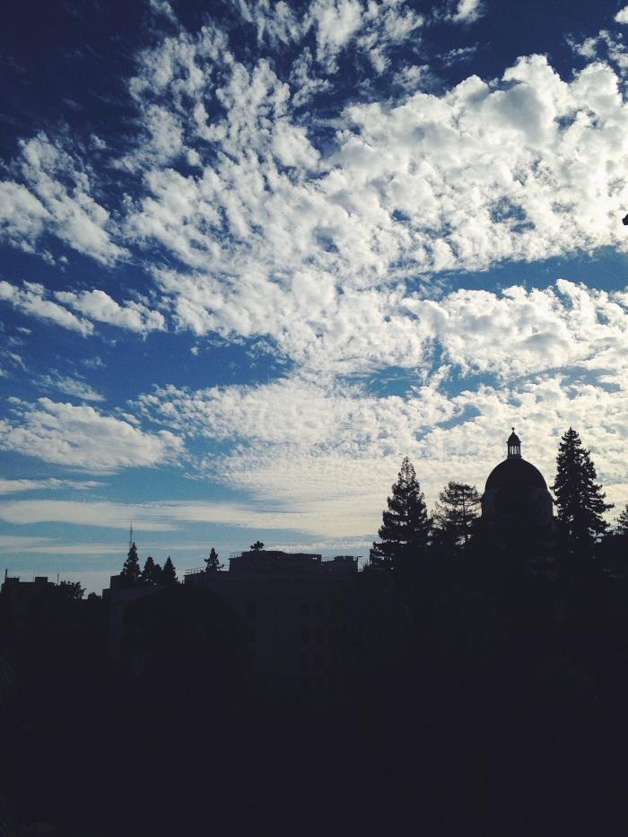 The stunning sky over Sacramento at dusk