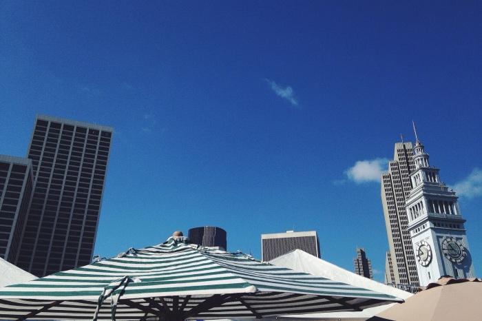 Market under the skyscrapers