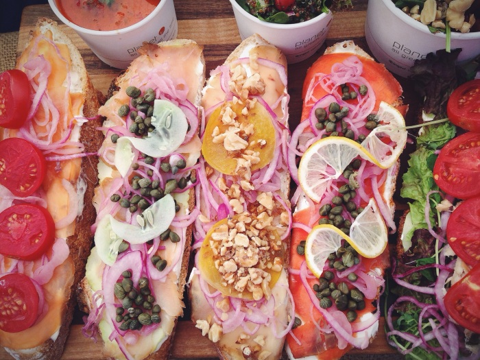 My favorite is the salmon with lemon add tomatoes...maybe my most loved food item ever, a bold statement, I know