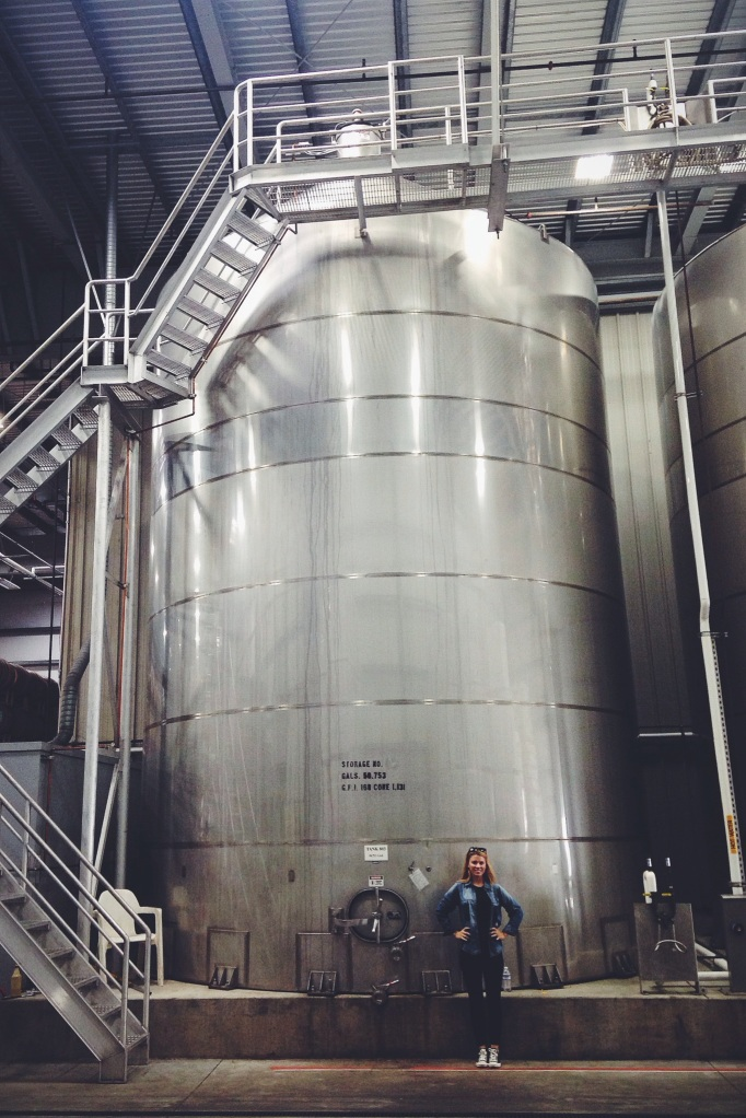 Again, very. Small. This tank holds enough juice to produce around 225,000 bottles of wine...talk about a hangover!