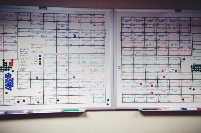 One of several tracking boards (done electronically as well) for a quick visual on the juice and corresponding tank
