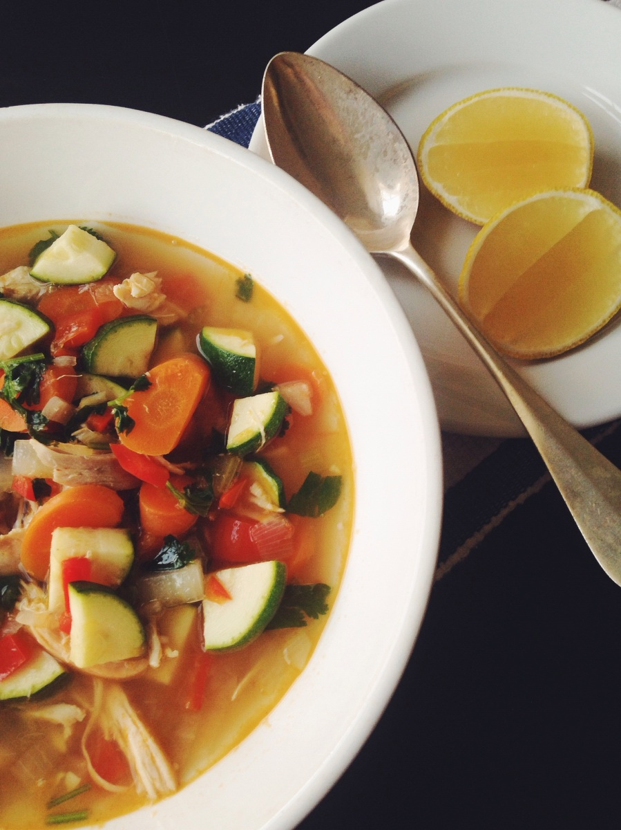 Lemon Cilantro Chicken Soup   a touch of lovely