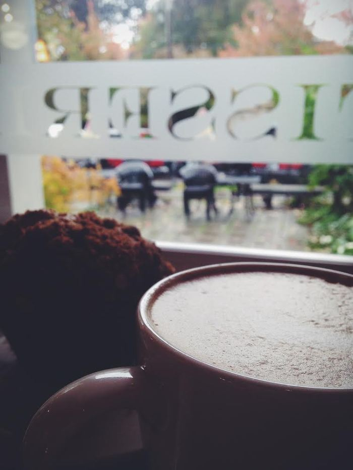 Coffee and a muffin with my sissy, the best kind of morning