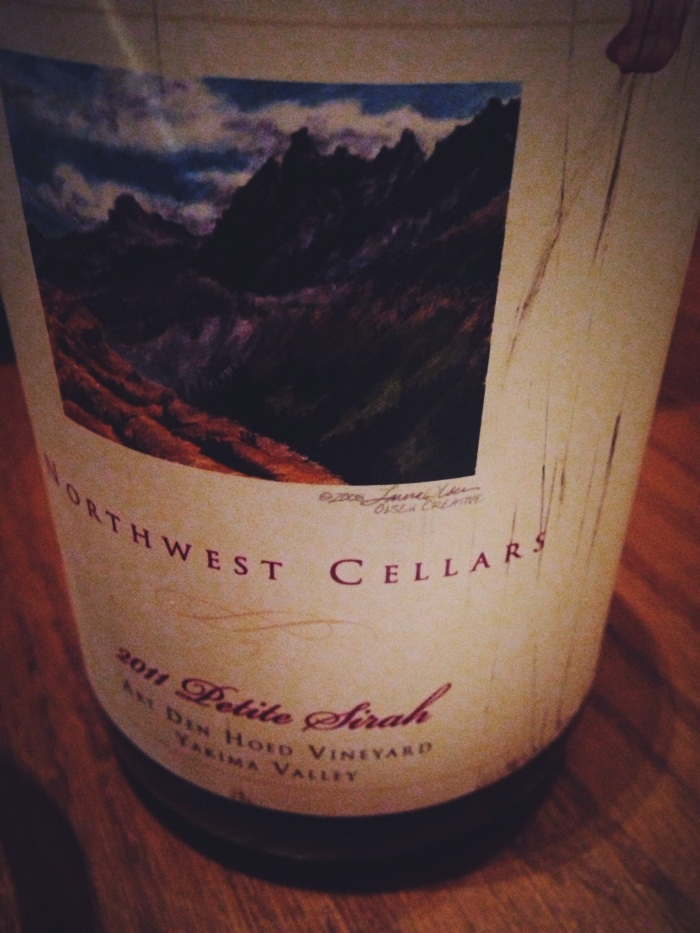 A Northwest Petite Sirah that was perfect with the meal, also the SOMM couldn't have been nicer