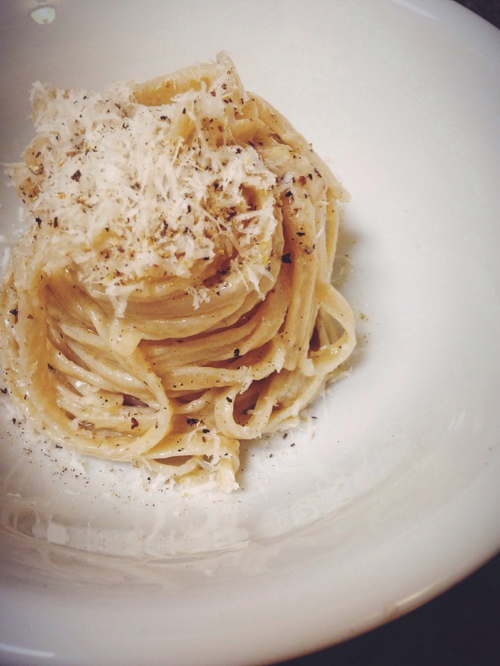 Just stomach training for Thanksgiving with a little Cacio e Pepe perfection.
