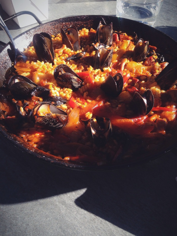 The best paella I have ever had. From Bravas in Healdsburg.