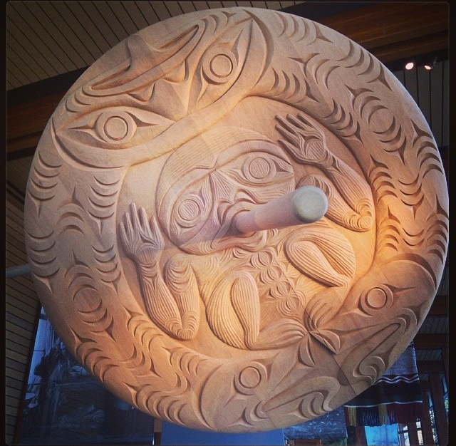 One of the intricate carvings at the SLCC
