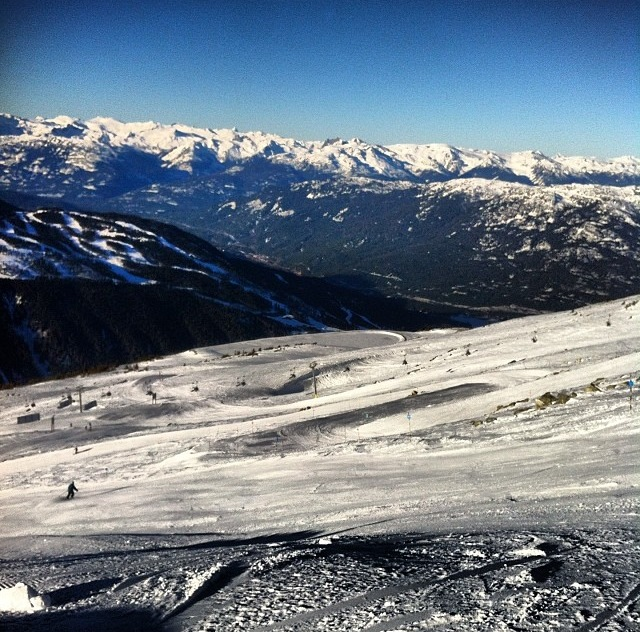 Not a bad day on the slopes when this is your view.