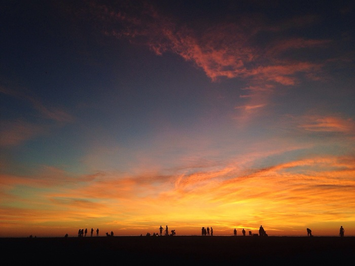 Magic sky at the beach in February!...California living.