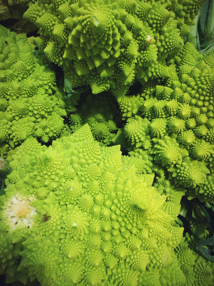The hubs lost his damn mind over these (romanesco in case you are wondering).