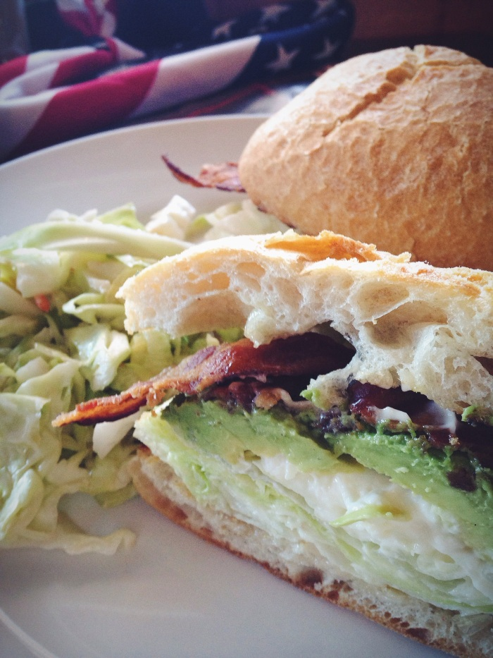 Probably one of the best sandwiches I have ever tried. Bacon (crisy perfection!), avocado, burrata, lettuce.