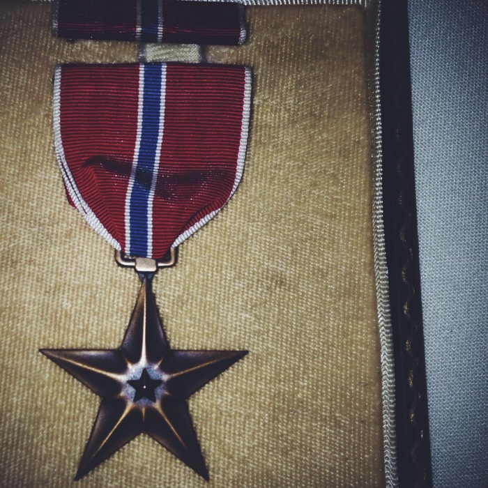 The bronze star awarded for acts of heroism in a combat zone.