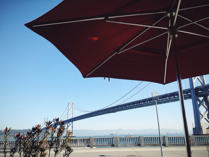 Lunch with a view of the Bay Bridge