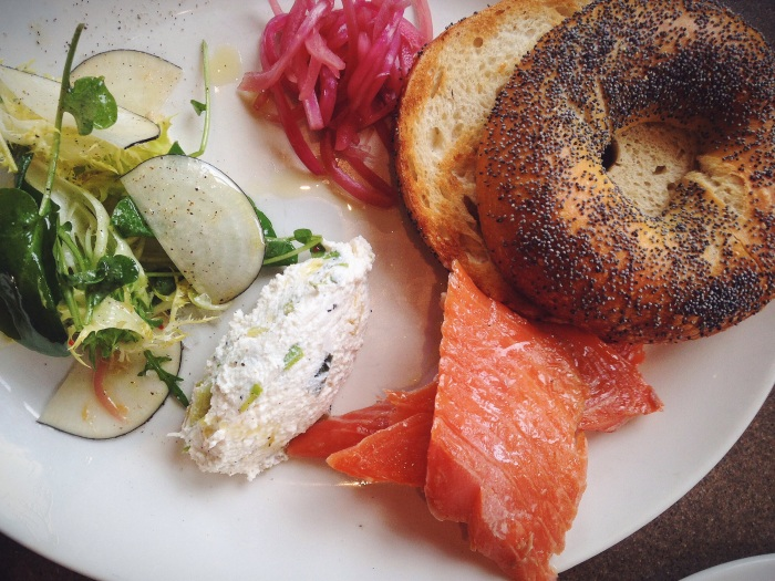The trout smoked in house and bagel made from scratch was exceptional