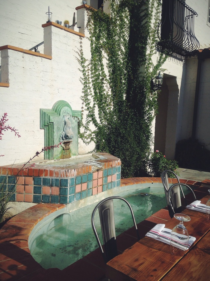 Cute outdoor seating for dinner once the sun sets
