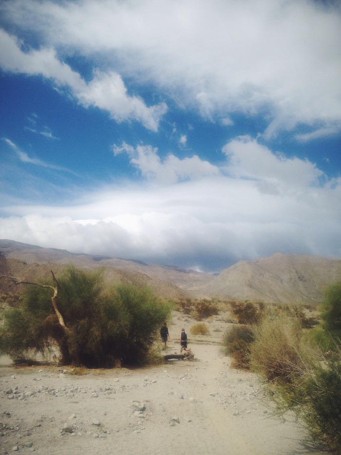 The crazy storm rolling in while we were on a hike...very different scenery than I'm used to