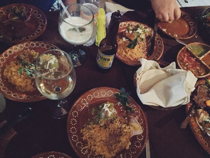 First night's dinner mission was all about a finding a Mexican feast, mission accomplished!