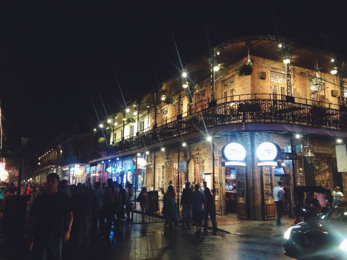 A picture to make Bourbon Street look far more beautiful than it actually is...kinda gross but checked it off the list