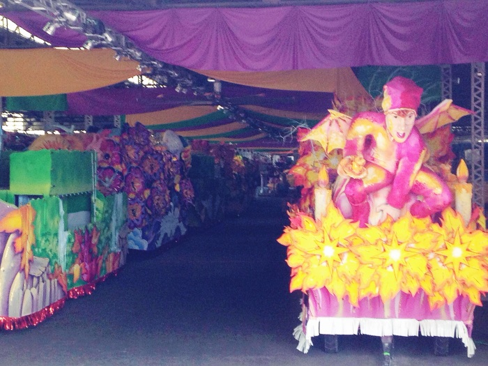 Tour of Mardi Gras world, so touristy but pretty impressive to see the scale of the production