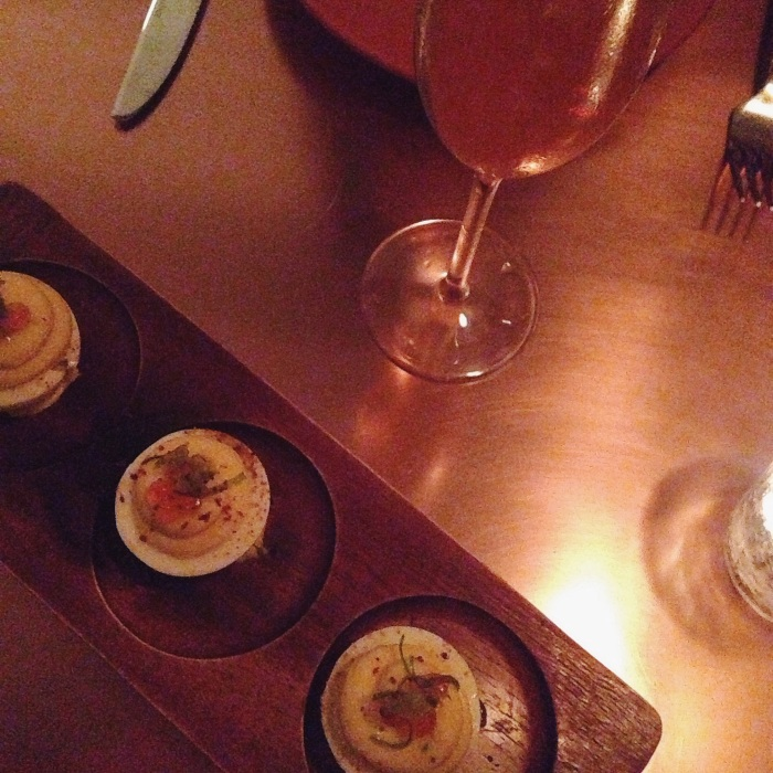 My favorite dish of the night, the smoked salmon deviled eggs