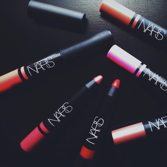 NARS Lipstick Pencils in Velvet Matte and Satin Applications