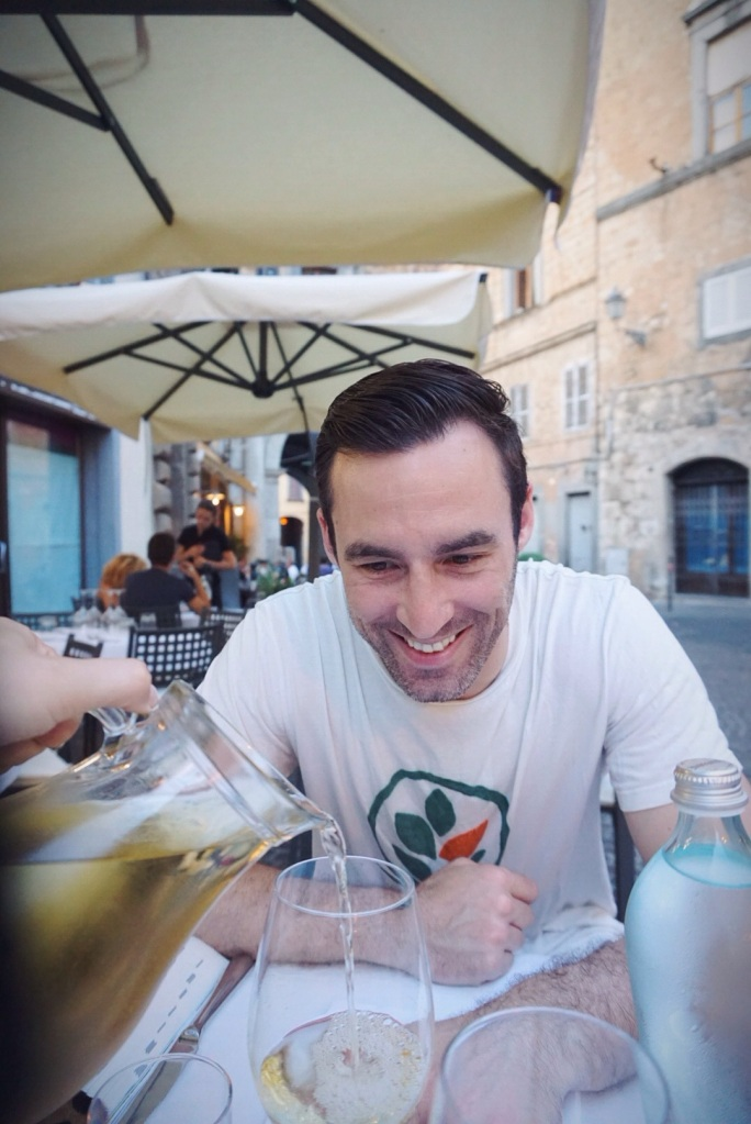Pretty sure this wasn't posed, someone was just really excited to try the Orvieto Classico