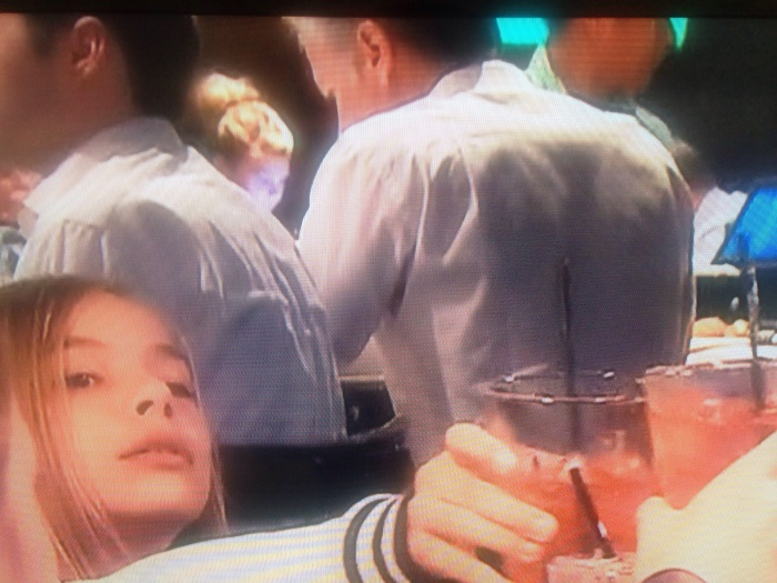 You guys!!! I finally made my Real Housewives debut! No seriously, that little head in the background is me at a work dinner. Is this ridiculous or what?! I couldn't stop laughing.