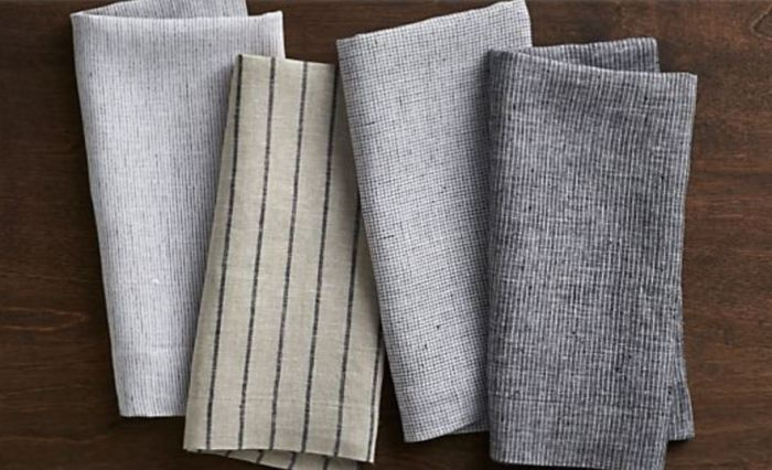 File this under a luxury item people don't usually buy for themselves but is so nice to have, these beautiful linen napkins would fold up into a stocking just perfectly