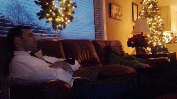 My hubby and grandpa taking a little snooze on Christmas day
