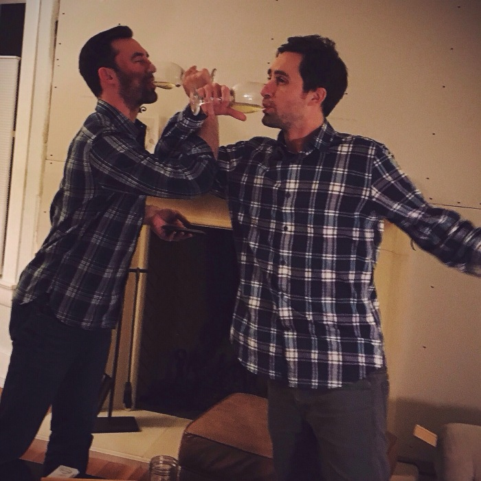 Real men wear plaid and drink white wine
